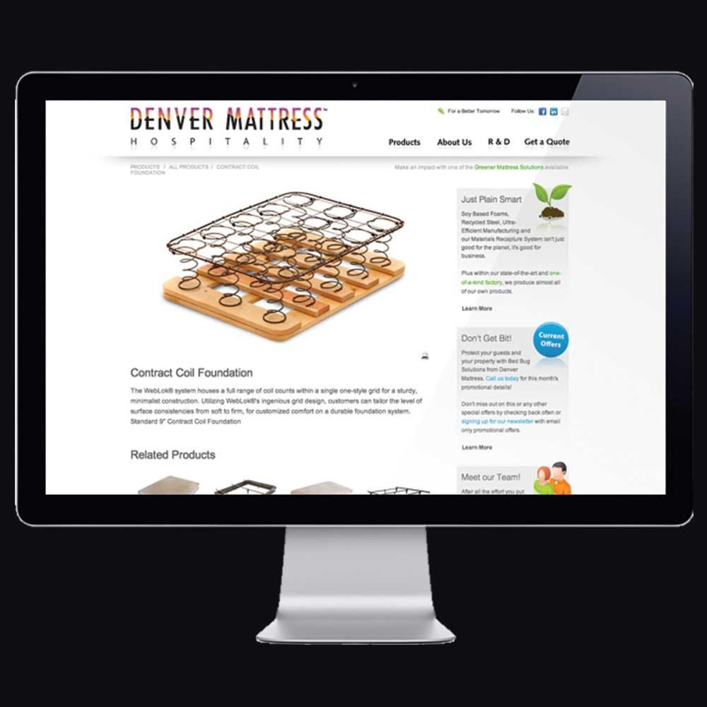 Denver Mattress Hospitality website