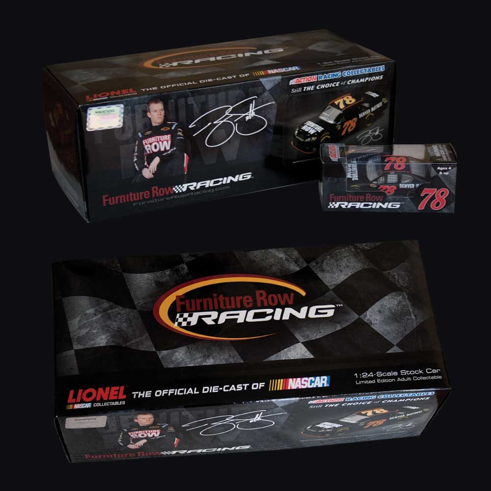 Furniture Row Racing NASCAR diecast packaging