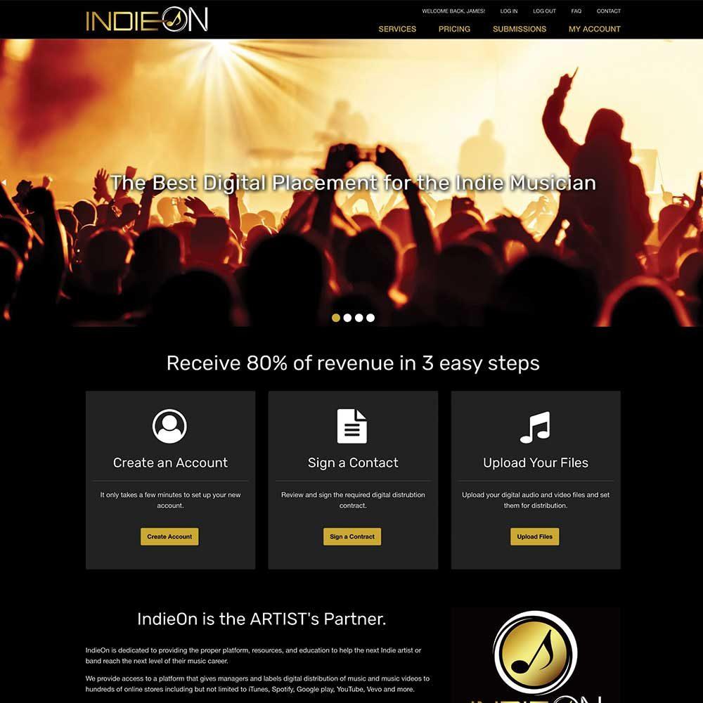 IndieOn RWD website
