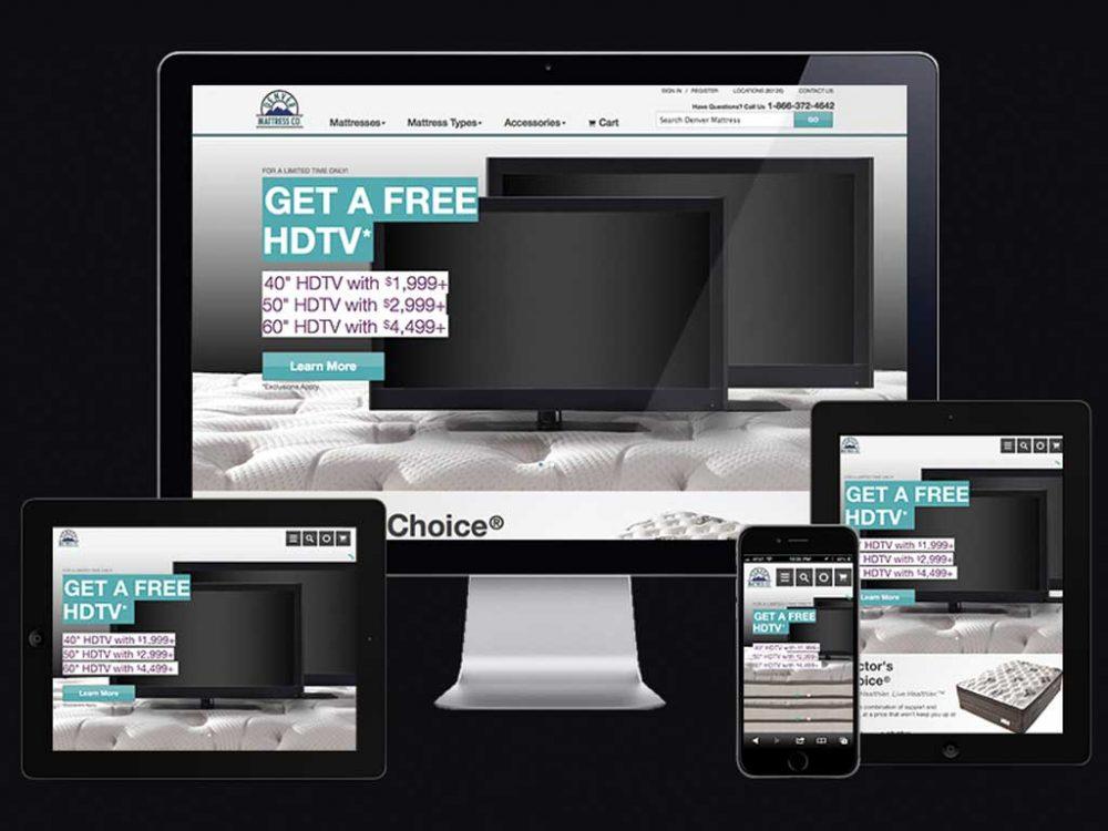 Denver Mattress RWD eCommerce Site