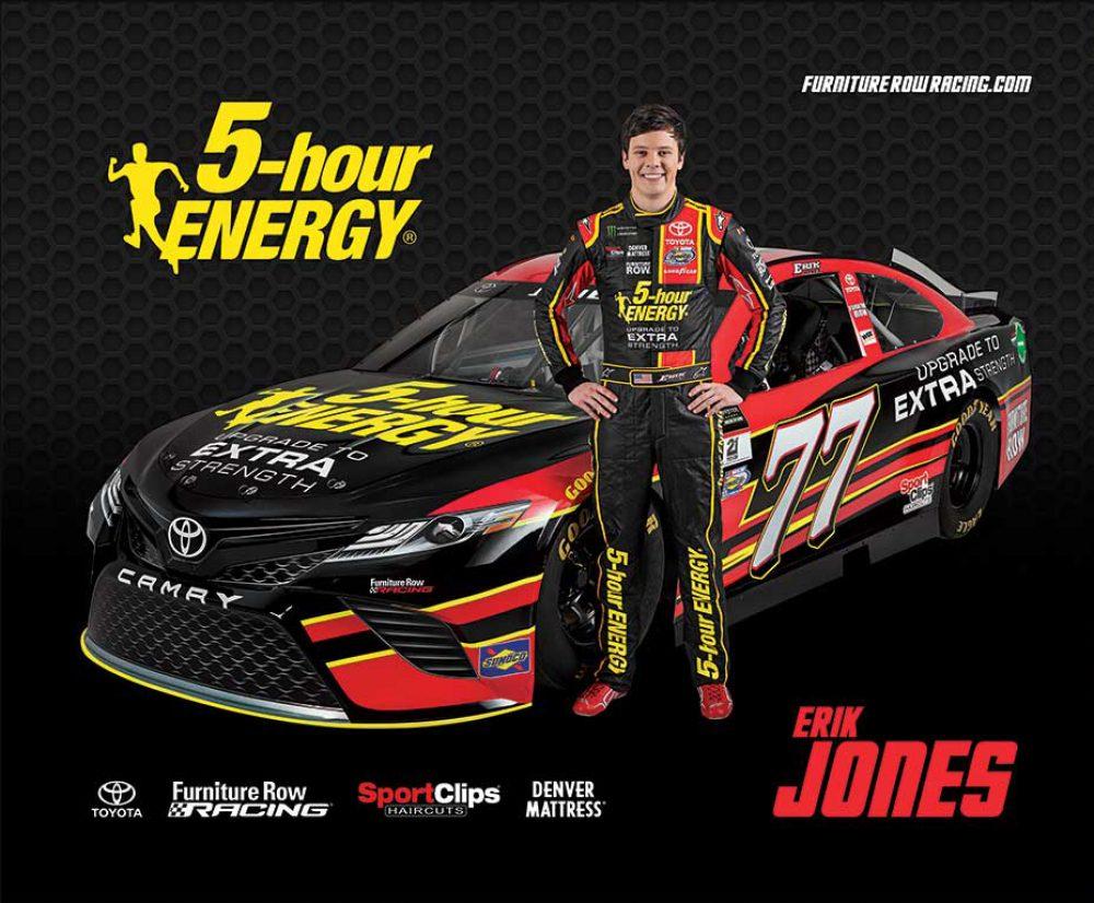 Furniture Row Racing NASCAR 5Hour Hero Card Erik Jones