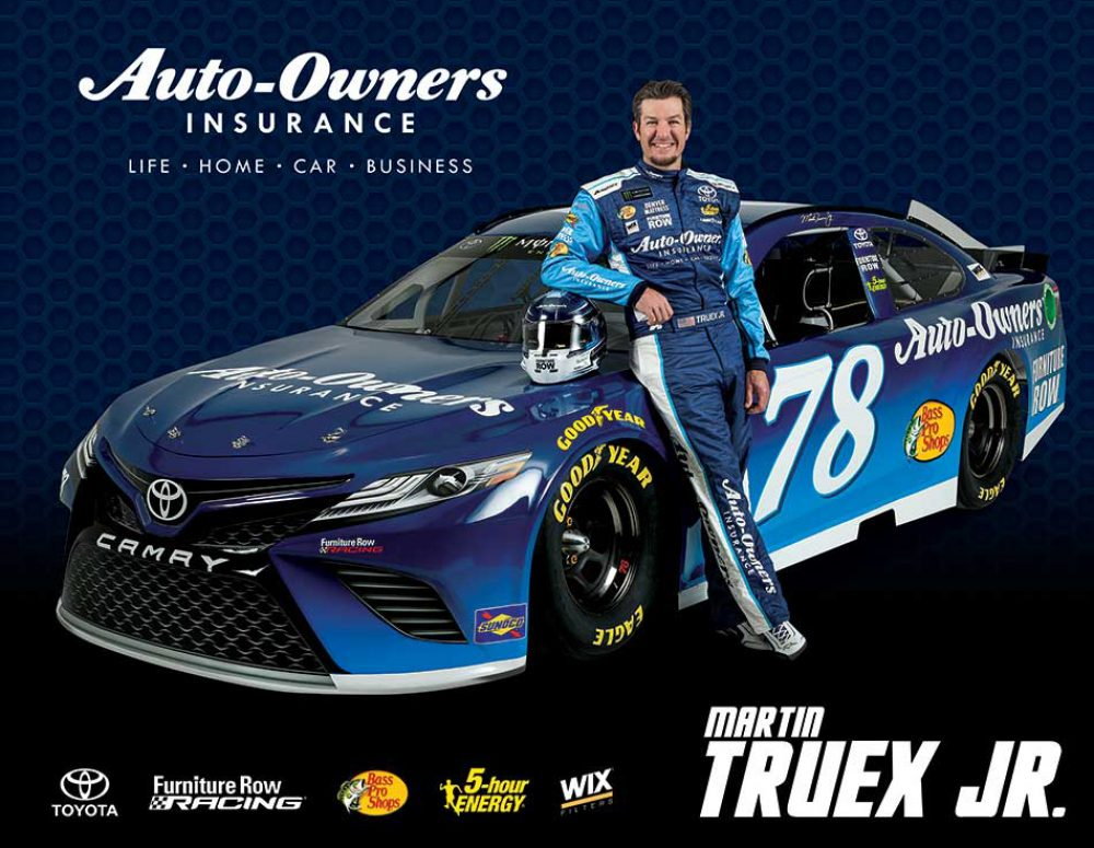 Furniture Row Racing NASCAR AOI Hero Card Martin Truex Jr