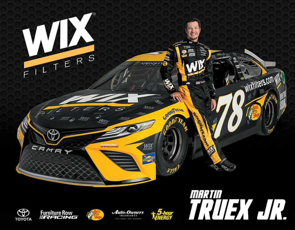 Furniture Row Racing NASCAR WIX Hero card Martin Truex Jr