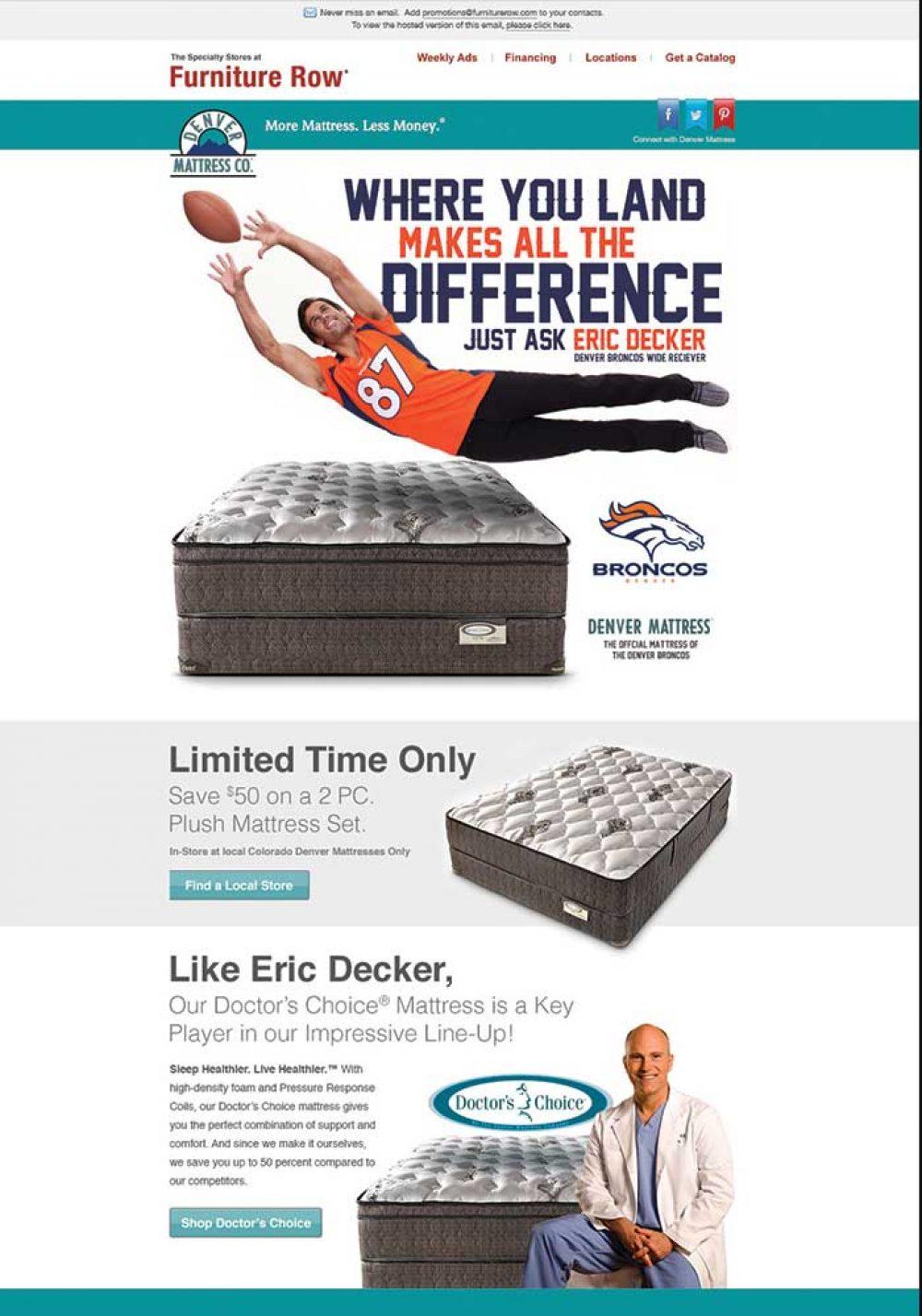 Denver Mattress Eric Decker Email
